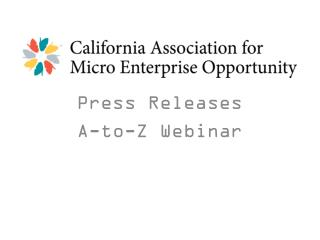 Press Releases  A-to-Z Webinar