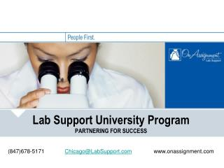 Lab Support University Program PARTNERING FOR SUCCESS