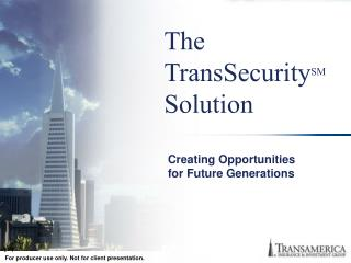 The  TransSecurity SM Solution