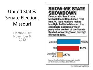 United States Senate Election, Missouri