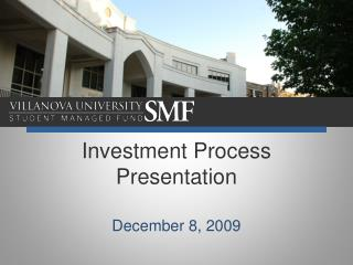 Investment Process Presentation