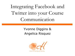 Integrating Facebook and Twitter into your Course Communication