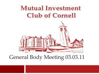 General Body Meeting 03.03.11