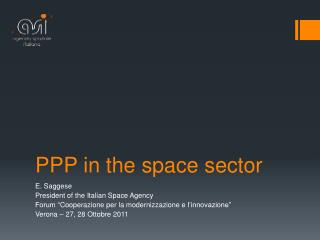PPP in the space sector