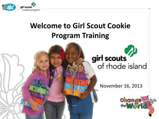 Welcome to Girl Scout Cookie Program Training