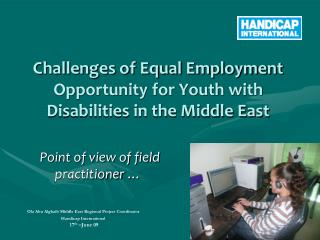 Challenges of Equal Employment Opportunity for Youth with Disabilities in the Middle East