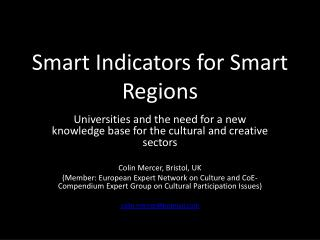 Smart  Indicators for Smart Regions