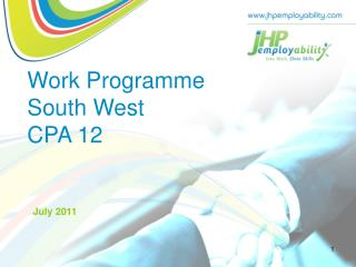 Work Programme  South West  CPA 12