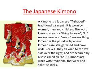 The Japanese Kimono