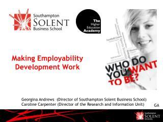 Making Employability Development Work