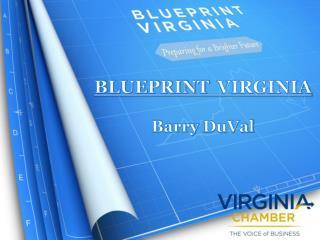 BLUEPRINT VIRGINIA Barry  DuVal