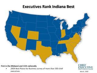 Executives Rank Indiana Best