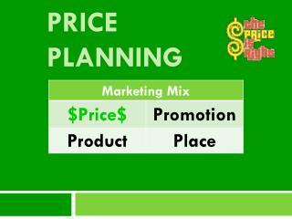Price Planning
