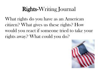 Rights- Writing Journal