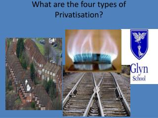 What are the four types of  Privatisation?