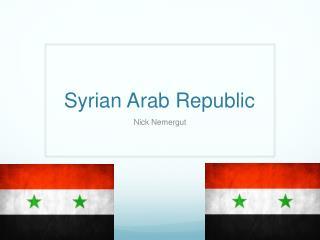Syrian Arab Republic