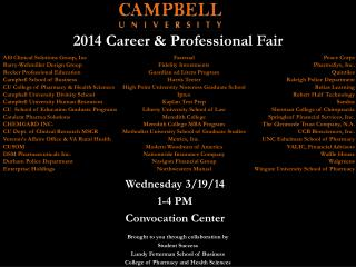 2014 Career & Professional Fair