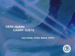 CERA  Update CAGNY  12/6/12