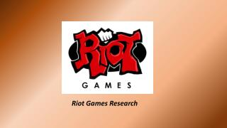 Riot Games Research