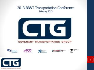 2013 BB&T Transportation Conference  February 2013