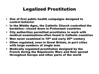 Legalized Prostitution