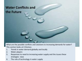 Water Conflicts and the Future