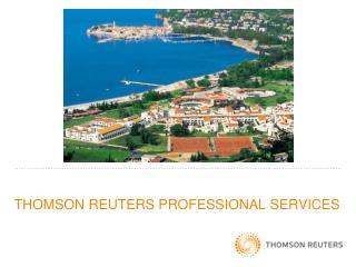 THOMSON REUTERS PROFESSIONAL SERVICES