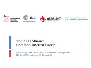 The NCD Alliance  Common Interest Group