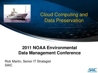 Cloud Computing and Data Preservation