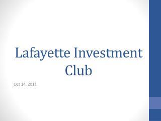 Lafayette Investment Club