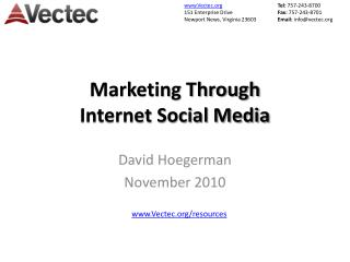 Marketing Through Internet Social Media