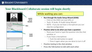 Your Blackboard Collaborate session will begin shortly
