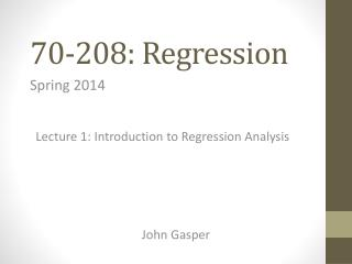 70-208: Regression