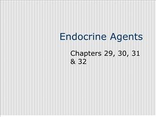 Endocrine Agents