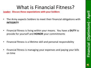 What is Financial Fitness?