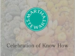 Celebration of Know How