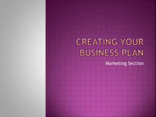 Creating Your Business Plan