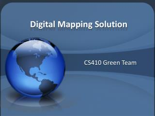 Digital Mapping Solution