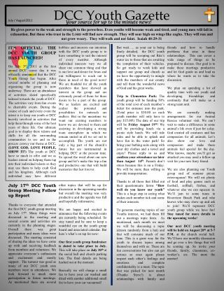 DCC Youth Gazette