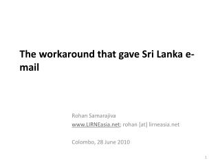 The workaround that gave Sri Lanka e-mail