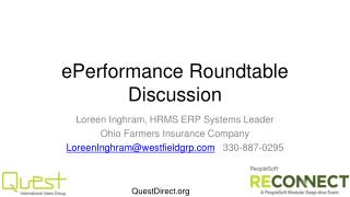 ePerformance  Roundtable Discussion