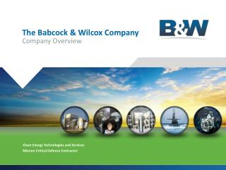 The Babcock & Wilcox Company Company Overview