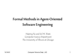 Formal Methods in Agent-Oriented Software Engineering