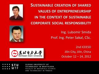 Sustainable  creation  of  shared values of entrepreneurship in  the context  of sustainable  corporate social responsi