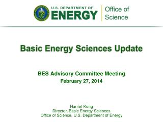 Basic Energy Sciences Update