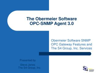The Obermeier Software OPC-SNMP Agent 3.0
