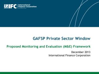 GAFSP Private Sector Window