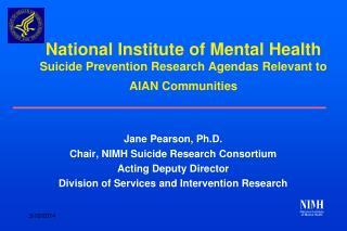 National Institute of Mental Health Suicide Prevention Research ...
