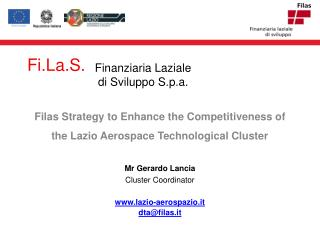 Filas  Strategy to Enhance the Competitiveness of the Lazio Aerospace Technological Cluster