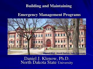 Building and Maintaining  Emergency Management Programs